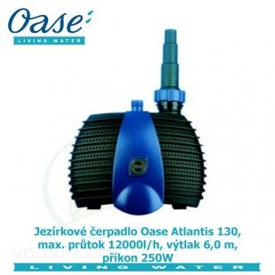 Jezírkové čerpadlo Oase Atlantis 130, max. průtok 12000l/h, výtlak 6,0 m, příkon 250W,