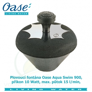 Plovoucí fontána Oase Aqua Swim 900, příkon 10 Watt, max. půtok 15 l/min