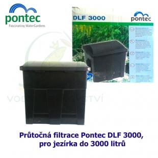 Průtočná filtrace Pontec DLF 3000, pro jezírka do 3000 litrů