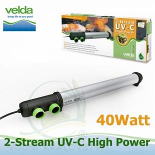 Velda UVC 2-Stream High Power 40 Watt Reflex, účinnost až 160 watt