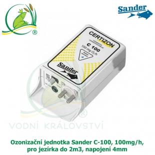 Ozonizační jednotka Sander C-100, 100mg/h, pro jezírka do 2m3, napojení 4mm