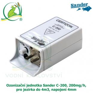 Ozonizační jednotka Sander C-200, 200mg/h, pro jezírka do 4m3, napojení 4mm