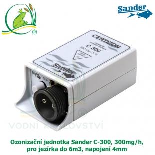 Ozonizační jednotka Sander C-300, 300mg/h, pro jezírka do 6m3, napojení 4mm