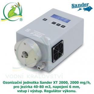 Ozonizační jednotka Sander XT 2000, 2000 mg/h, pro jezírka 40-80 m3, napojení 6 mm, vstup i výstup. Regulátor výkonu.