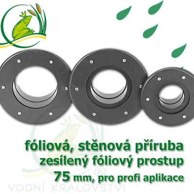 PVC příruba fóliová 75 mm, fóliový prostupprofi fóliová, stěnová přiruba 75 mm