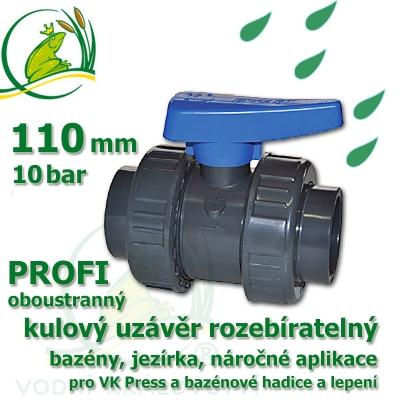kulový ventil 110 oboustranně rozebíratelný, profi