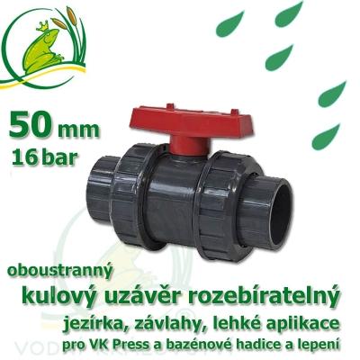 kulový ventil  50 oboustranně rozebíratelný