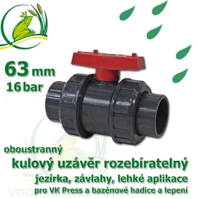 kulový ventil  63 oboustranně rozebíratelný