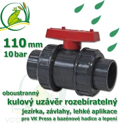 kulový ventil  110 oboustranně rozebíratelný
