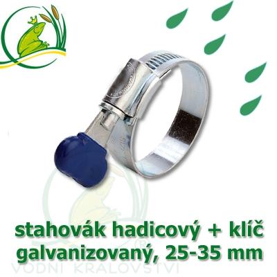 Stahovák pozink extra, 25-35 mm s klíčem, šíře 12 mm