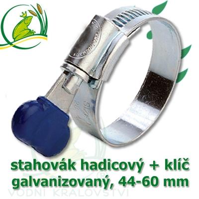 Stahovák pozink extra, 44-60 mm s klíčem, šíře 12 mm