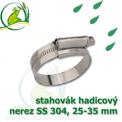 """stahovák nerez 25-35 mm, """"UK made"""" S304, šíře pásky 12 mm"""