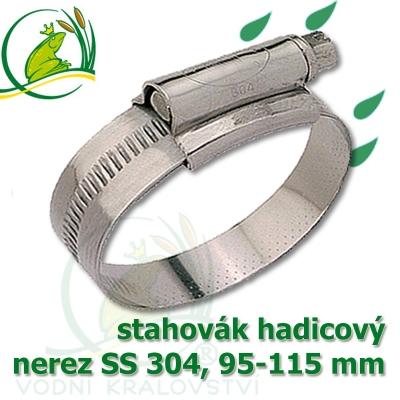 """stahovák nerez 95-115 mm, """"UK made"""" S304, šíře pásky 12 mm"""