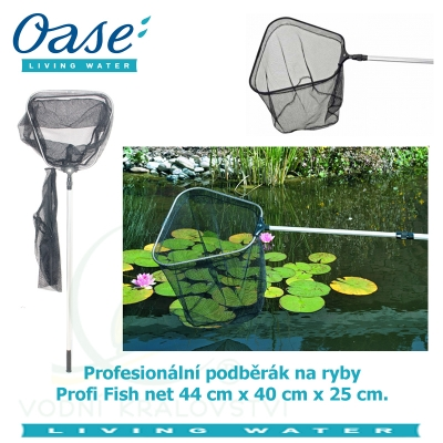 Profesionální podběrák na ryby lichoběžníkového tvaru - Profi Fish net 44x40x25