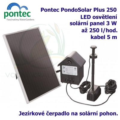 Pontec PondoSolar Plus 250 - Solární fontána s čerpadlem a solárním panelem