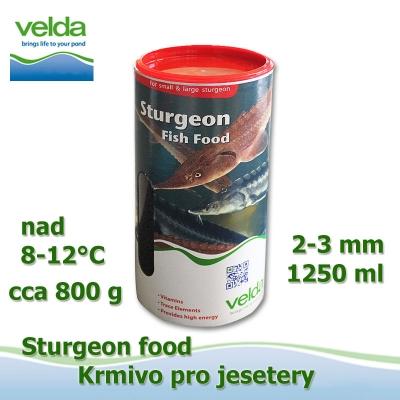 Velda sturgeon, krmivo pro jesetery