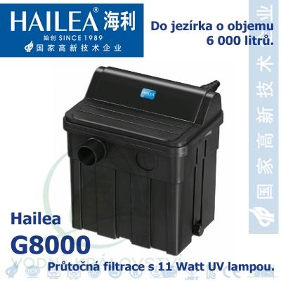 Průtočná filtrace s 11 Watt UV, do 6.000 litrů jezírka