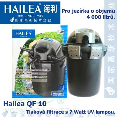 Tlaková filtrace QF10, včetně 7 Watt UV, pro jezírka do 4000 litrů, obsah 10 l, max. průtok 2000 litrů/hod.