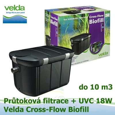 Průtoková filtrace Velda Cross-Flow Biofill + UVC lampa 18 Watt pro jezírka do 10 m3