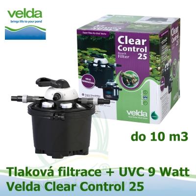 Tlaková filtrace Velda Clear Control 25 + UVC lampa pro jezírka do 10 m3