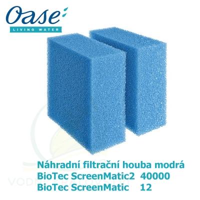 Náhradní filtrační houba modrá pro Biotec ScreenMatic 12, ScreenMatic2 40 000