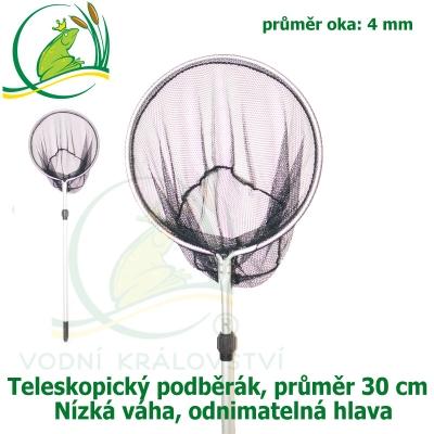 Teleskopický podběrák, kruh 30 cm