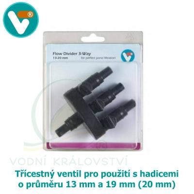 Třícestný ventil 13 mm / 19 mm (20 mm)