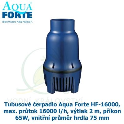Tubusové čerpadlo Aqua Forte HF-16000, max. průtok 16000 l/h, výtlak 2 m, příkon 65W, vnitřní průměr hrdla 75 mm