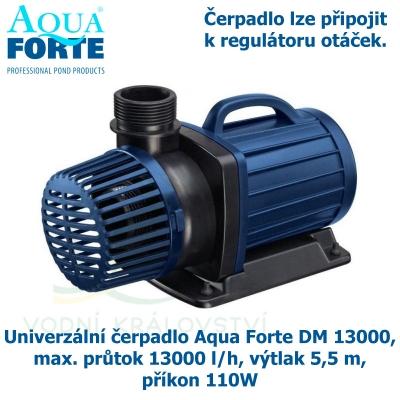 Univerzální čerpadlo Aqua Forte DM 13000, max. průtok 13000 l/h, výtlak 5,5 m, příkon 110W