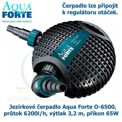 Jezírkové čerpadlo Aqua Forte O-6500, průtok 6200l/h, výtlak 3,2 m, příkon 65W