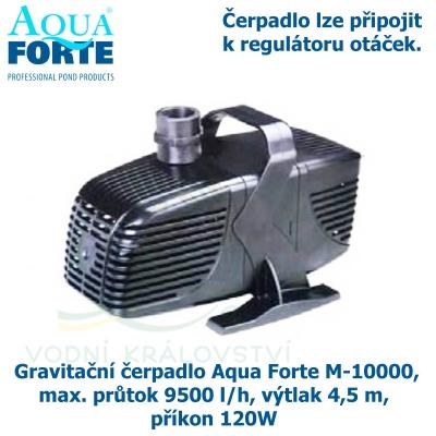 Gravitační čerpadlo Aqua Forte M-10000, max. průtok 9500 l/h, výtlak 4,5 m, příkon 120W