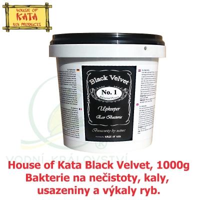 House of Kata Black Velvet, 1000g na 20-40 m3, bakterie na nečistoty, kaly, usazeniny a výkaly ryb