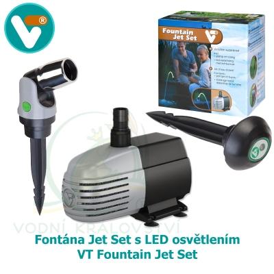 Fontána Jet Set s LED osvětlením - VT Fountain Jet Set
