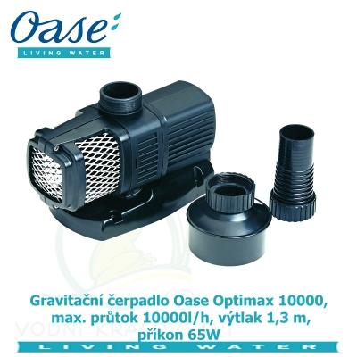 Gravitační čerpadlo Oase Optimax 10000, max. průtok 10000l/h, výtlak 1,3 m, příkon 65W, - Výprodej nového zboží, poškozená krabice.
