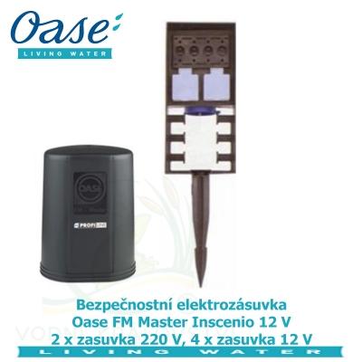 Bezpečnostní elektrozásuvka Oase FM Master Inscenio 12 V 2 x zasuvka 220 V, 4 x zasuvka 12 V .