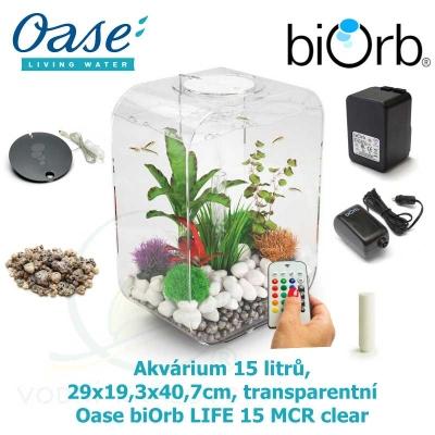 Akvárium 15 litrů, 29x19,3x40,7cm, transparentní - Oase biOrb LIFE 15 MCR clear