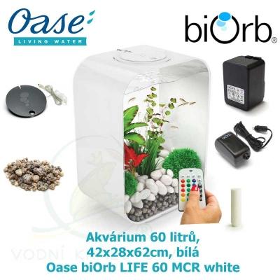 Akvárium 60 litrů, 42x28x62cm, bílá - Oase biOrb LIFE 60 MCR white