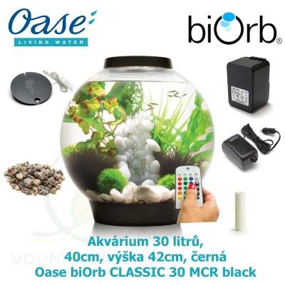 Akvárium 30 litrů, průměr 40cm, výška 42cm, černá - Oase biOrb CLASSIC 30 MCR black