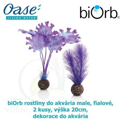 biOrb rostliny do akvária male, fialové, 2 kusy, výška 20cm, dekorace do akvária