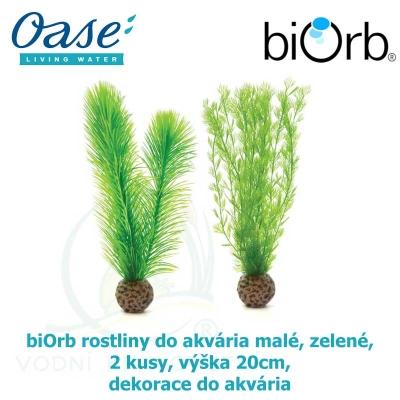 biOrb rostliny do akvária malé, zelené,  2 kusy, výška 20cm, dekorace do akvária