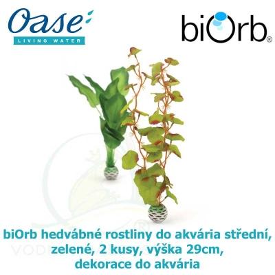 biOrb hedvábné rostliny do akvária střední, zelené, 2 kusy, výška 29cm, dekorace do akvária