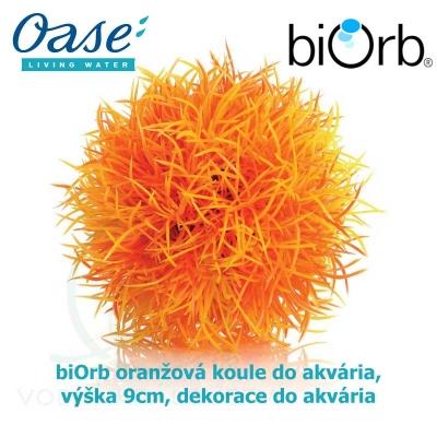 biOrb oranžová koule do akvária, výška 9cm, dekorace do akvária