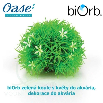 biOrb zelená koule s květy do akvária, dekorace do akvária