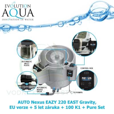 AUTO Nexus EAZY 220 EAST Gravity, EU verze + 5 let záruka + 100 K1 + Pure Set