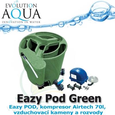 Eazy Pod Air v zelené barvě, jezírka 5-50m3, Eazy POD, kompresor Airtech 70l, vzduchovací kameny a rozvody,