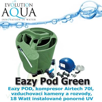 Eazy Pod Complete v zelené barvě, Eazy Pod, Airtech 70 l set a 18 Watt instalované ponorné UV