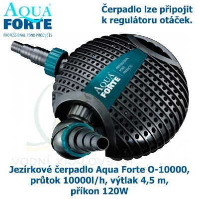 Jezírkové čerpadlo Aqua Forte O-10000, průtok 10000l/h, výtlak 4,5 m, příkon 120W