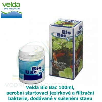 Velda Bio Bac 100ml, aerobní startovací jezírkové a filtrační bakterie Velda, dodávané v sušeném stavu