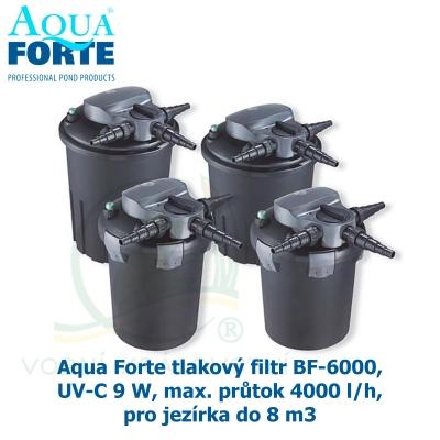 Aqua Forte tlakový filtr BF-6000, UV-C 9 W, max. průtok 4000 l/h, pro jezírka do 8 m3