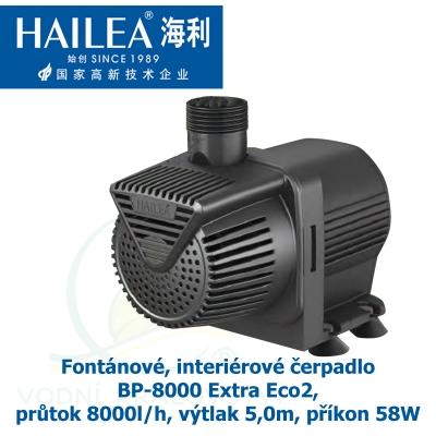 Fontánové, interiérové čerpadlo BP-8000 Extra Eco2, průtok 8000l/h, výtlak 5,0m, příkon 58W